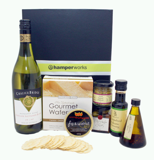 deliciously gourmet with wine gift pack